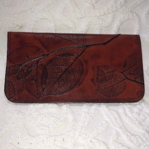 New C.L. Whiting Tooled Leather Checkbook Cover